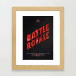Battle Royale Framed Art Print