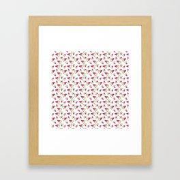 Watermellon pattern Framed Art Print
