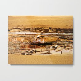 Sand ground Metal Print