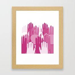 Feminist Hands Framed Art Print