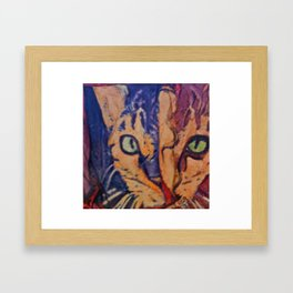 Kiva The Cat Framed Art Print