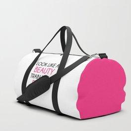 Look Like A Beauty / Train Beast Gym Quote Duffle Bag
