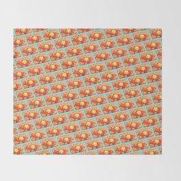 Waffle Pattern - Blue Throw Blanket