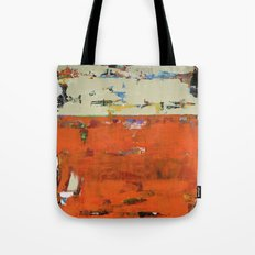 Roadrunner Bright Orange Abstract Colorful Art Painting Tote Bag