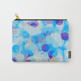 dark blue orange and blue circle pattern painting abstract background Carry-All Pouch