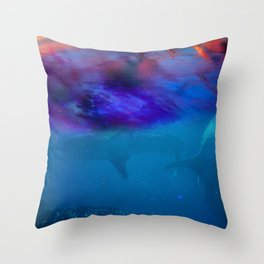 DarkOcean Throw Pillow
