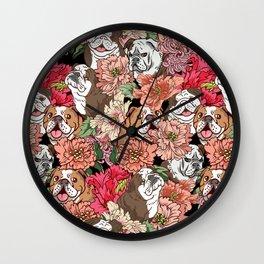 Because English Bulldog Wall Clock