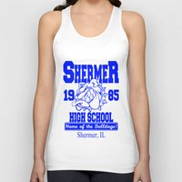 breakfast club Tank Tops featuring The Breakfast Club  |  Shermer High School Logo  |  John Hughes Universe by Silvio Ledbetter