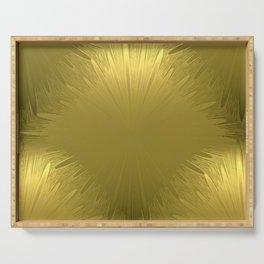 Golden Starburst Pattern Serving Tray