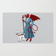 Devil With A Blue Dress On Rug