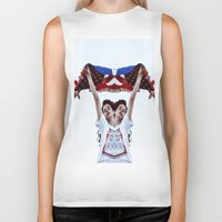 american Biker Tanks featuring AMERICAN by Paparrazzi666