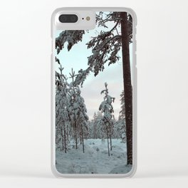 Morning Winter Light Clear iPhone Case