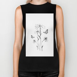 Flowers and butterflies 2 Biker Tank