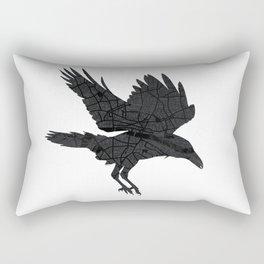 London, as the Raven Flies Rectangular Pillow