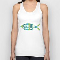 jesus Tank Tops featuring Jesus by biblebox