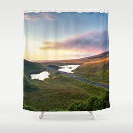 Vanishing Lakes,Ireland,Northern Ireland,Ballycastle Shower Curtain