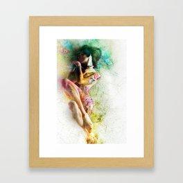 Self-Loving Embrace Framed Art Print