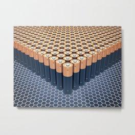 Batteries Metal Print