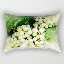 Green Grapes Watercolor Rectangular Pillow