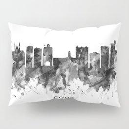 Cork Ireland  Skyline BW Pillow Sham