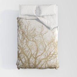 Elegant botanical gold foil tree  branch Comforters