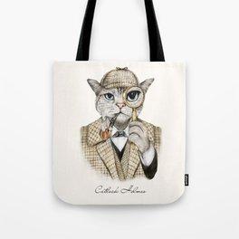 Catlock Holmes Tote Bag
