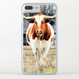 Texas Longhorn Morning Clear iPhone Case