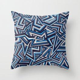 Support Creativity Crazy Zigs Throw Pillow