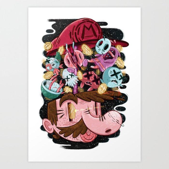 super mario art print - Super Mario Pictures To Print