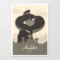 aladdin Canvas Prints featuring Aladdin by Dee Choi