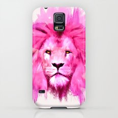 A pink lion looked at me Galaxy S5 Slim Case
