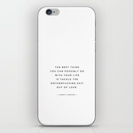 quoted — tackle — cheryl strayed iPhone Skin