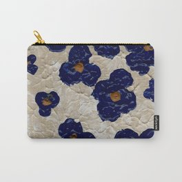 Abstract Blue Flowers Carry-All Pouch