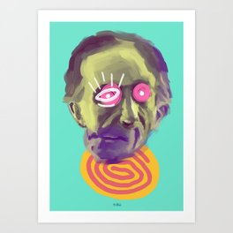 Readymade Marcel, POP art style, digitally painted Art Print
