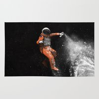 nasa Area & Throw Rugs featuring Astronaut by Florent Bodart / Speakerine