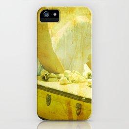 She Sells Seashells I seashells, tall tales, she sells seashells, nursery, rhyme, yellow, brown, gol iPhone Case