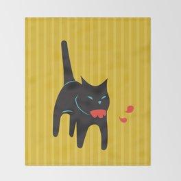 Zombie Cat Hank Throw Blanket