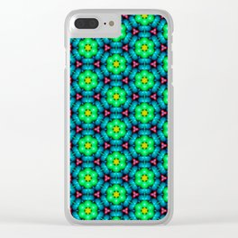 Bubble Pattern in Green Clear iPhone Case
