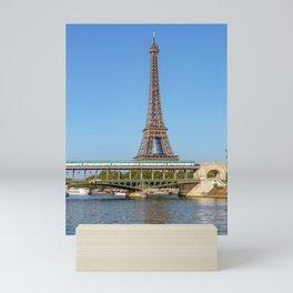 Aerial Metro crossing Bir Hakeim bridge - Paris Mini Art Print