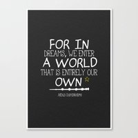 dumbledore Canvas Prints featuring Dumbleism - Dumbledore Quote 3 by Teacuppiranha