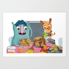 Too Much Syrup! Art Print