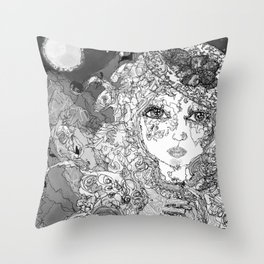 Rose's Secret * B&W Throw Pillow