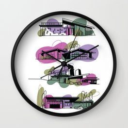 Honey, I'm Home! (Rhapsody Purple) | @makemeunison Digital Art Wall Clock