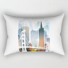 City of San Francisco painting Rectangular Pillow