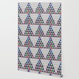 Abstract Pine Tree Pattern 5 Wallpaper