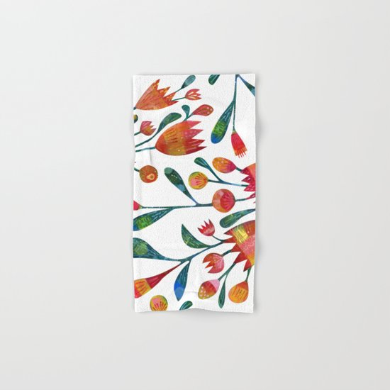 Buds and Flowers Hand & Bath Towel