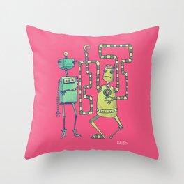 Robo Pirates! Throw Pillow