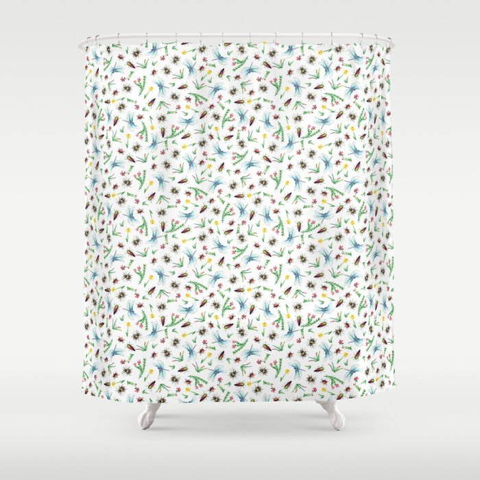 Insect Garden Shower Curtain