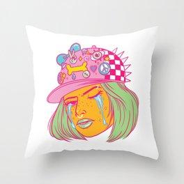 Tough Girl Throw Pillow