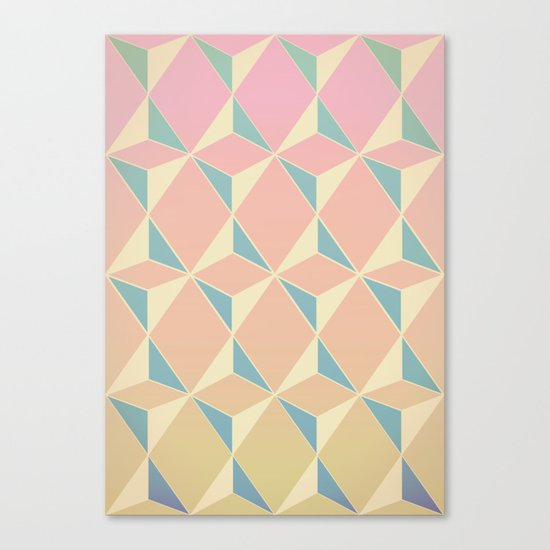 Triangles and Squares XI Canvas Print